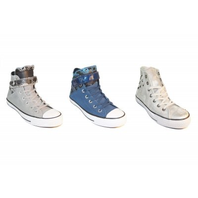 CONVERSE Brea & Hardware ALL STAR Classic HIGH Damen Schuhe shoes Leder Chucks Trainers
