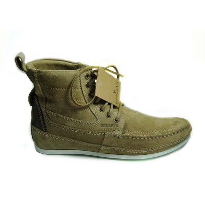 NEU HENLEYS 4 Inch Smokie Sandbar Schuhe Herren Leder Boots shoes timis Smokie braun 45
