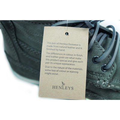 NEU HENLEYS 4 Inch Smokie Sandbar Schuhe Herren Leder Boots shoes timis Smokie grau 45